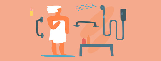 Tips for Washing, Grooming, and Going to the Bathroom with Parkinson's image