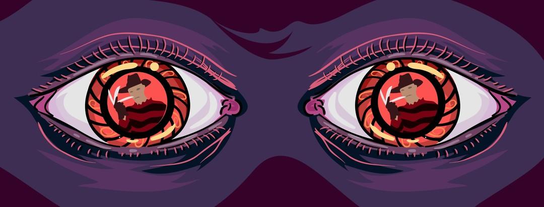 Image of frightened eyes.