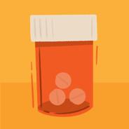Three prescription pill bottles
