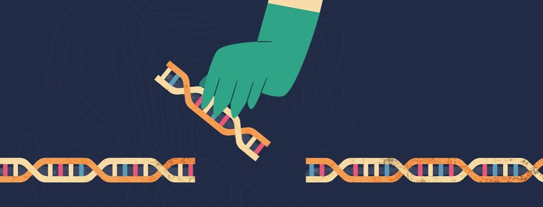 Doctor replacing a portion of a strand of DNA