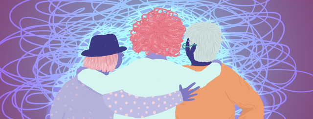 A group of friends hold each other before facing an unmistakably complicated journey.