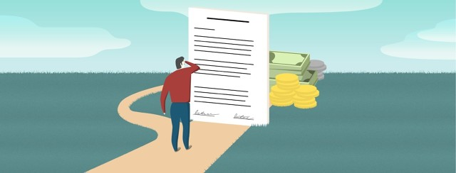 a man staring at a power of attorney document blocking his money